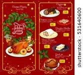 christmas dinner restaurant... | Shutterstock .eps vector #531640600