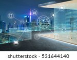 cityscape and network mobile... | Shutterstock . vector #531644140