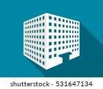 multi story building with a... | Shutterstock .eps vector #531647134