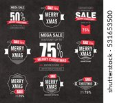 collection of christmas sale... | Shutterstock .eps vector #531653500