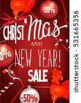 christmas and new year sale...   Shutterstock .eps vector #531665356