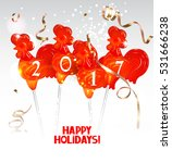 new year  2017 greeting card... | Shutterstock .eps vector #531666238
