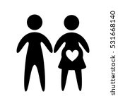 family parents silhouette...   Shutterstock .eps vector #531668140