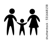 family parents silhouette... | Shutterstock .eps vector #531668158
