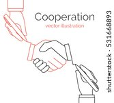 cooperation concept business... | Shutterstock .eps vector #531668893