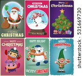 vintage christmas poster design ... | Shutterstock .eps vector #531669730