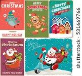 Vintage Christmas Poster Desig...