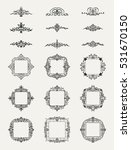 vintage decor elements and... | Shutterstock .eps vector #531670150