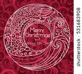 merry christmas. frame white... | Shutterstock .eps vector #531683908