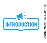 introduction. badge with...