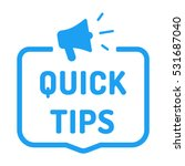 quick tips. badge with... | Shutterstock .eps vector #531687040