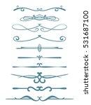 ornamental calligraphic line... | Shutterstock .eps vector #531687100