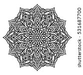 vector black and white... | Shutterstock .eps vector #531687700