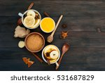 spicy tea with ginger  lemon... | Shutterstock . vector #531687829