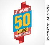 50 years anniversary...   Shutterstock .eps vector #531689269