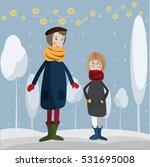 vector grandmother and... | Shutterstock .eps vector #531695008