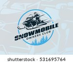 winter snowmobile emblem on... | Shutterstock .eps vector #531695764