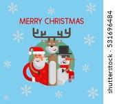merry christmas flat. santa... | Shutterstock .eps vector #531696484