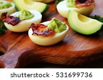 Deviled Eggs With Avocado And...