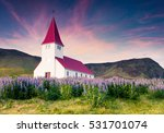 vik i myrdal church surrounded... | Shutterstock . vector #531701074