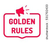 golden rules. badge with... | Shutterstock .eps vector #531702433