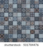 abstract mosaic tiles portuguese | Shutterstock . vector #531704476