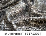 Shiny Silver Fabric Wrinkled...