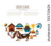 basset hound care infographic... | Shutterstock .eps vector #531715624