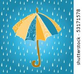 umbrella and a rainy day | Shutterstock .eps vector #53171578