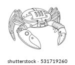 steampunk style crab.... | Shutterstock .eps vector #531719260