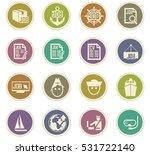 job icon set for web sites and... | Shutterstock .eps vector #531722140
