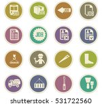 job icon set for web sites and... | Shutterstock .eps vector #531722560