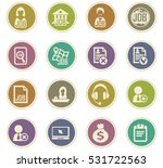 job icon set for web sites and... | Shutterstock .eps vector #531722563