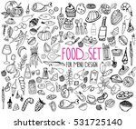 stylized food. hand drawn set... | Shutterstock .eps vector #531725140