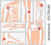 disease of the joints and bones ... | Shutterstock .eps vector #531730180