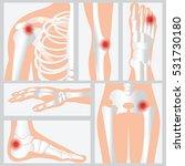 disease of the joints and bones ... | Shutterstock .eps vector #531730180