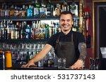 beautiful stylish bartender... | Shutterstock . vector #531737143
