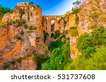 ronda  spain at the puente... | Shutterstock . vector #531737608