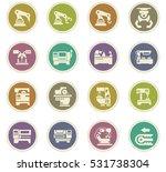 vector machine tool icons set.... | Shutterstock .eps vector #531738304