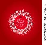 decorative paper wreath for... | Shutterstock . vector #531739678