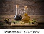 olive oil and balsamic vinegar... | Shutterstock . vector #531741049