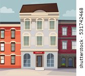vector image houses in row | Shutterstock .eps vector #531742468