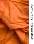 Orange Fabric Texture. Soft...