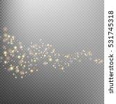 gold glittering star dust trail ...   Shutterstock .eps vector #531745318