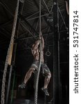 crossfit athlete climbing the... | Shutterstock . vector #531747814