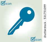 key icon. lock simbol. security ...