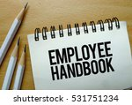 employee handbook text written... | Shutterstock . vector #531751234