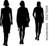 silhouette teenagers girls | Shutterstock .eps vector #53175244