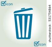 trash can icon  vector eps10... | Shutterstock .eps vector #531754864
