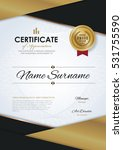 certificate template with... | Shutterstock .eps vector #531755590